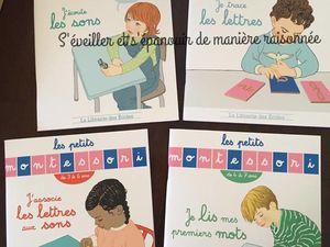 """En route vers les sons, lettres et mots avec les cahiers """"Les petits montessori"""" pour les 3-6 ans"""