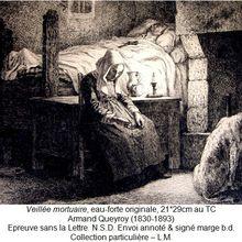 Une Veillée Mortuaire gravée par Armand Queyroy