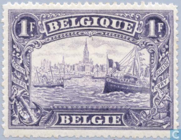 Fig.10:  Belgique, émission dite du siège d'Anvers, 1915