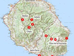 Geological Guide of Reunion Island - and its hiking trails - one click to enlarge