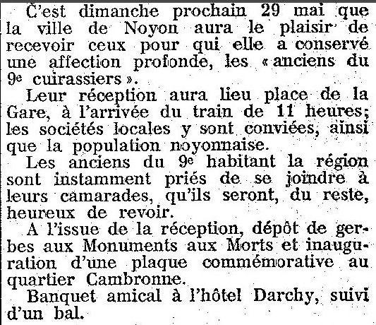 Album - la ville de Noyon (Oise), au fil des mois au cours des années 1930 à 1952