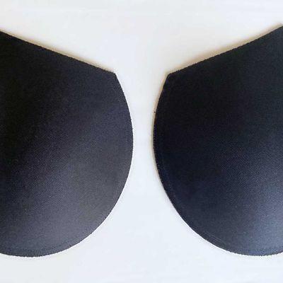 Paire de coussinets de soutien-gorge noir 1cm