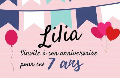 Wishlist des 7 ans de Lilia