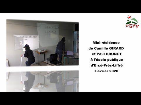Campagn'art 2019-2020 : mini-résidence de Camille GIRARD et Paul BRUNET