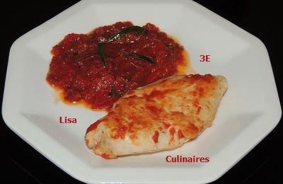 Escalopes de poulet aux tomates et au romarin