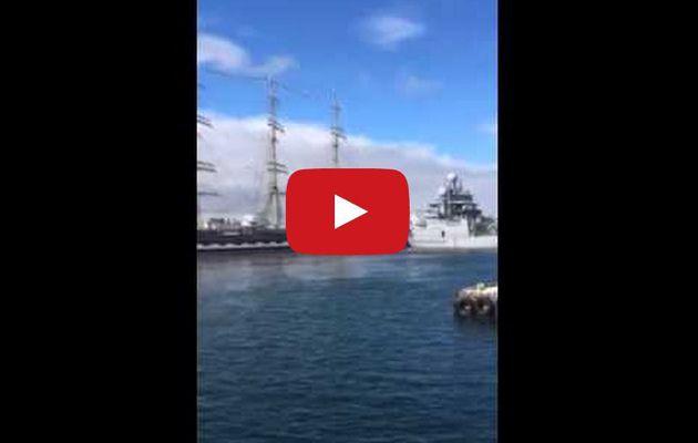 VIDEO - le voilier école russe Kruzenshtern percute 2 navires garde-côtes en Islande