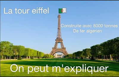 TOUR EIFFEIL : LE SYMBOLE DE LA FRANCE, LA TOUR EIFFEL, A UNE FORTE ORIGINE ALGÉRIENNE