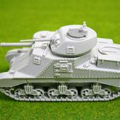 1/48 scale - 28mm WW2 M3 GRANT British tank from Blitzkrieg Miniatures