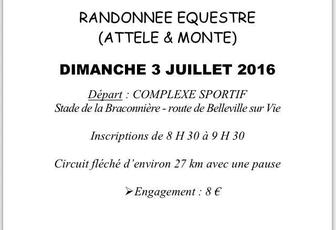 Rando à Dompierre-sur-Yon (85) dimanche 3 juillet 2016