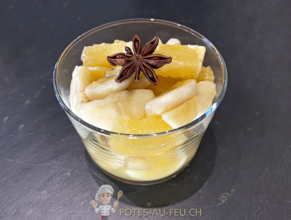 Salade de Bananes et Oranges à l'Anis