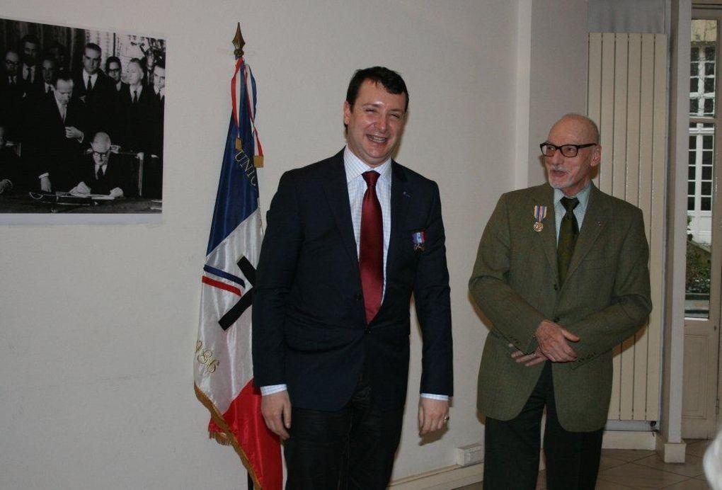 Voeux 2013 de l'UGF et remises de médailles et diplômes du cinquantenaire du traité de l'Elysée avec l'ORFACE, Mairie du 5ème ardt de Paris le 26/01/2013.