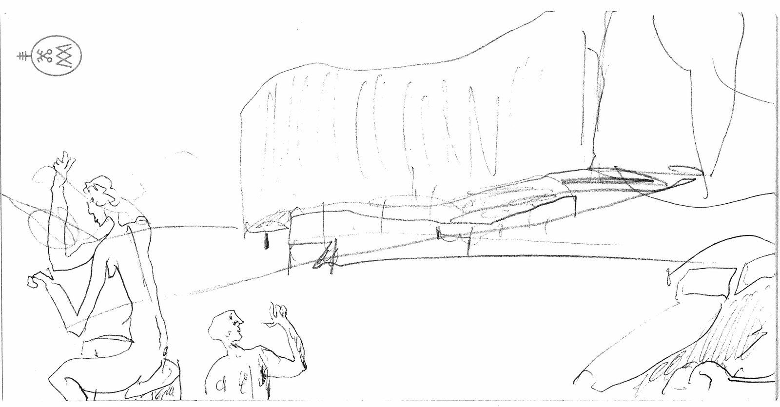 Alvaro Vieira Siza ( the drawing of the architect )