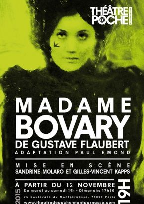 """Madame Bovary"" au Théâtre de Poche Montparnasse"