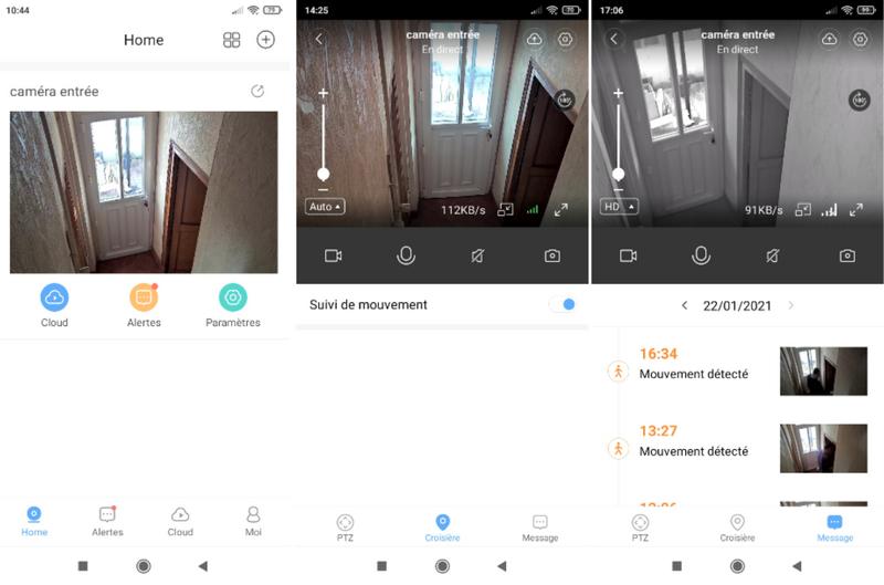 test de l'application pour la caméra MECO Eleverde PTZ Outdoor @ Tests et Bons Plans