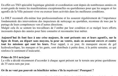 Situation anormale des TSO de la DILT : l'intersyndicale CGT/SUPAP-FSU interpelle la Maire de Paris