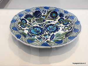 Plat au bouquet composite (1540 / Iznik - Turquie) Bassin décoré (1600 / France)