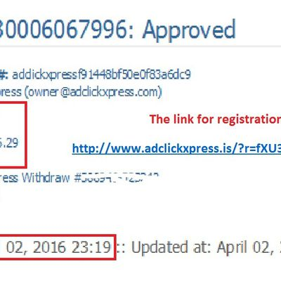 My 48.Withdrawal Proof at AdClickXpress