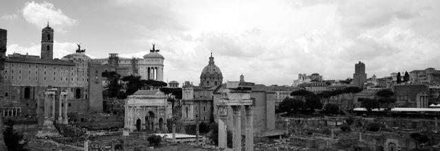Le Forum  de Rome ..à l'ombre!