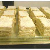 Gâteau roumain Blanche Neige - Prajitura Alba ca Zapada - www.sucreetepices.com