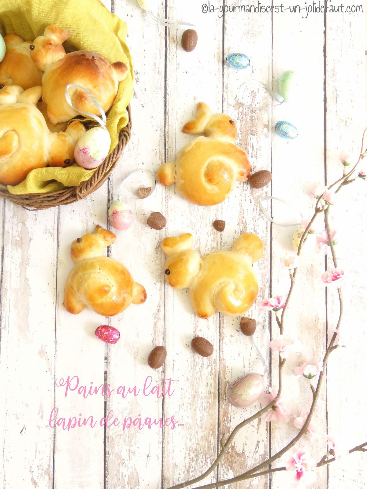 Pain au lait lapin de Pâques