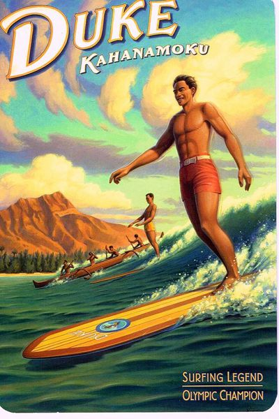 Duke Kahanamoku is widely credited with spreading the sport of surfing.