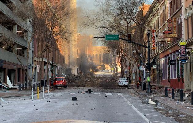 Forte explosion à Nashville (Tennessee)