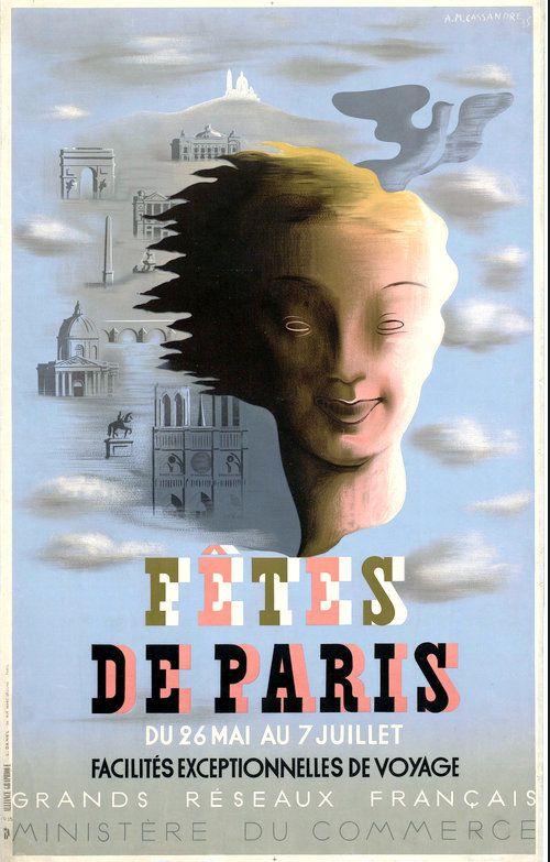 PUBLICITES : LES  GRANDS  NOMS  DE  L'AFFICHE...    CASSANDRE.