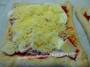 pizza croûtes aux fromages