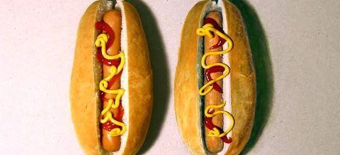 Couper ces hotdogs