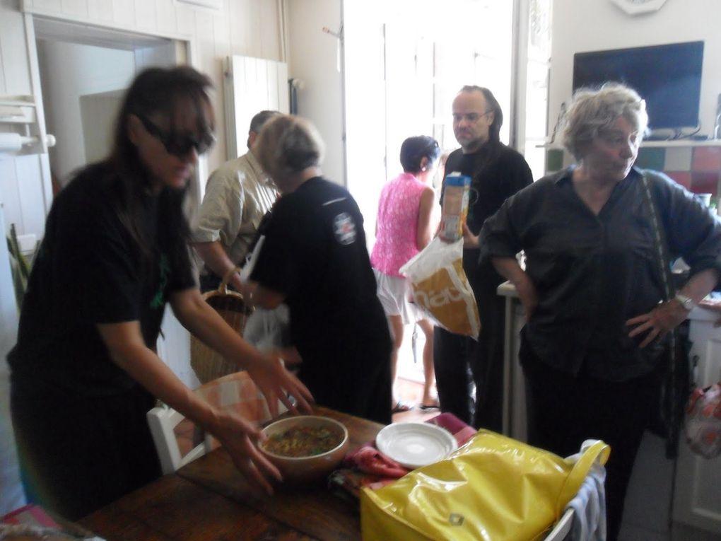 juillet 2013 salle des fêtes puis chez Marina et Jean-Claude Boyer