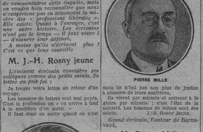"""J.-H. Rosny Jeune """"La misère des professions libérales"""" (1926)"""