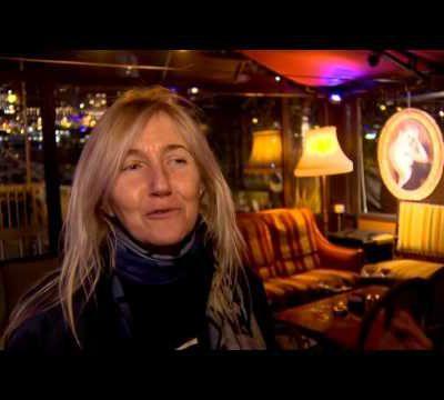 Sophie à Saint-Tropez au JT de la chaîne de télé de la principauté, Monaco Info