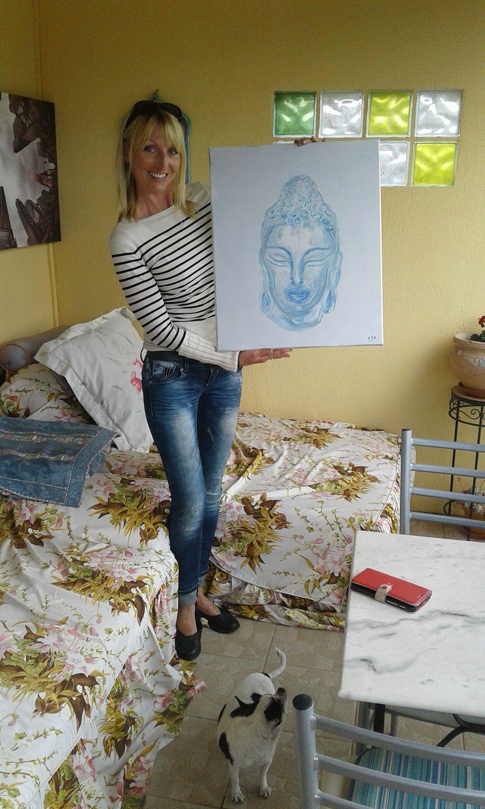 Acrylique peinture au doigt et au pinceau
