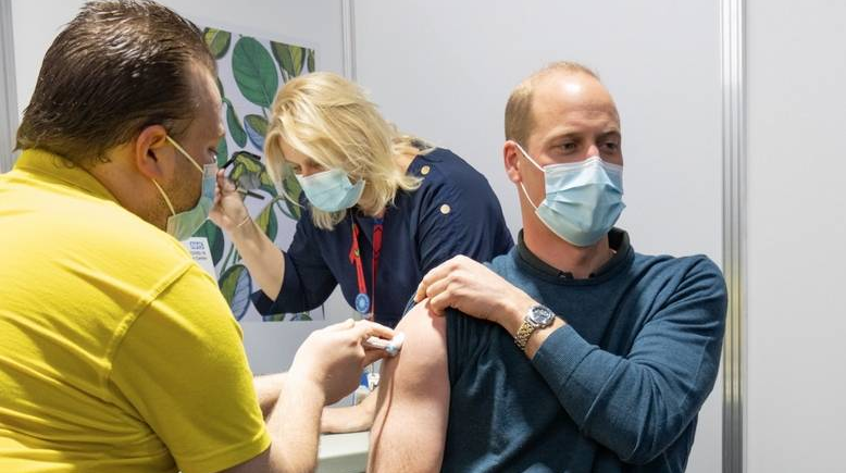 Britain's Prince William gets first dose of Covid-19 vaccine