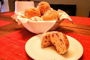 Petits pains au lard