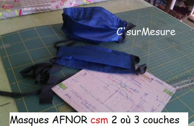 Masques : Patron Afnor-Csm