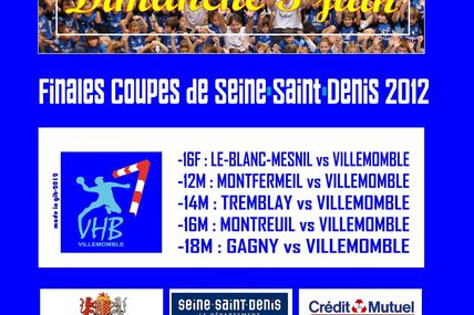 Finales Coupes de Seine-Saint-Denis 2012 !