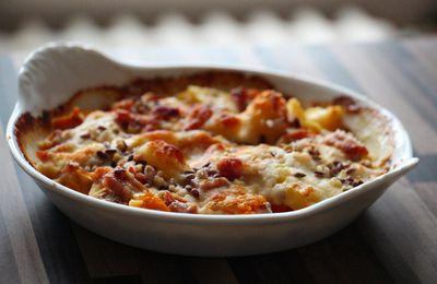 Gratin de butternut, mortardelle et parmesan