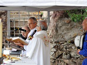 Fête de l'Assomption à la grotte d'Algrange en 2015