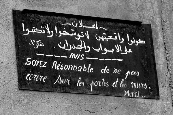 En Algérie,  comme beaucoup de pays maghrebins, on parle régulièrement  d'environnement dans plusieures langues...(Photos: Karim Tedjani)