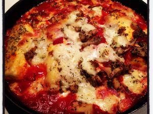 Mes quenelles au four façon pizza... Facile et rapide, un vrai régal !