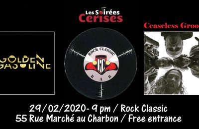 🎵 Golden Gasoline (F) + Ceaseless Groove @ Rock Classic - 29/02/2020 - 21h00 - Entrée gratuite !
