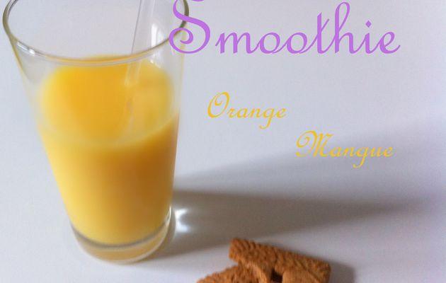 Smoothie orange mangue