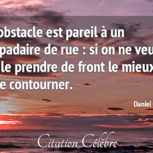 Ma citation du jour : l'obstacle et le lampadaire