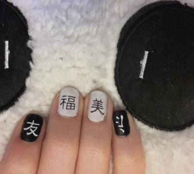 Nail art - stamping chinois