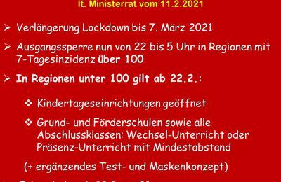 Ab 22.2.: Kindertageseinrichtungen wieder geöffnet - An Grundschulen Wechselunterricht oder Präsenzunterricht mit Mindestabstand