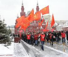 Les communistes organisent une marche et un rassemblement à Moscou