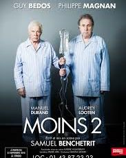 Au théâtre Hébertot : Moins 2, avec Philippe Magnan et Guy Bedos