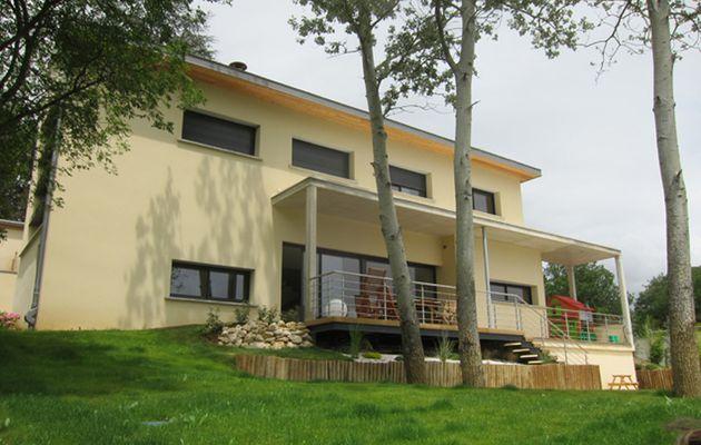Maison neuve isolation chanvre chaux