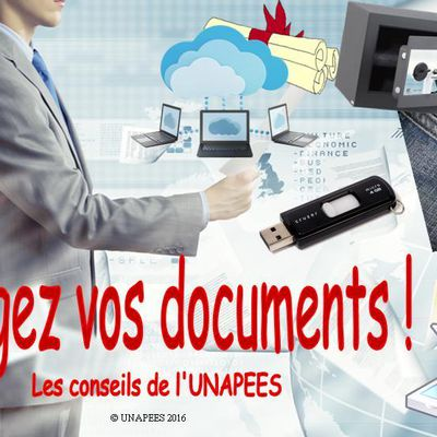 Faites des copies de vos documents importants !